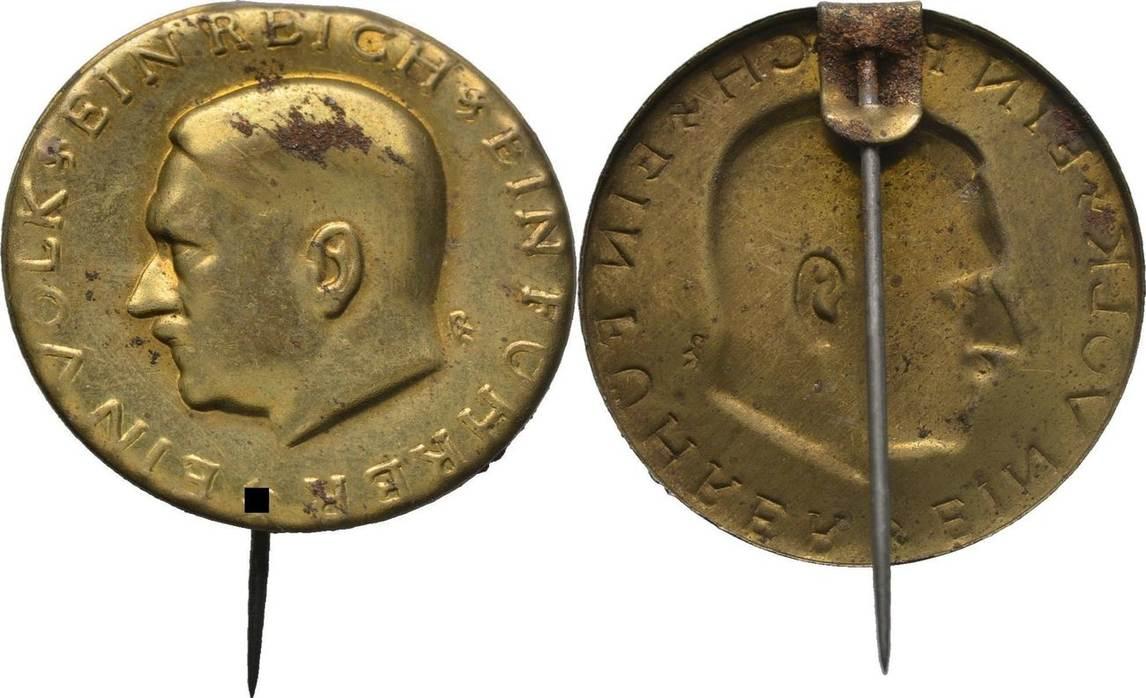 Anstecknadel 1933 1945 Deutsches Reich Adolf Hitler Fleckig Vf Ma