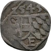 Einseitiger Pfennig 1545 Salzburg Ernst von Bayern, 1540-1554 ss