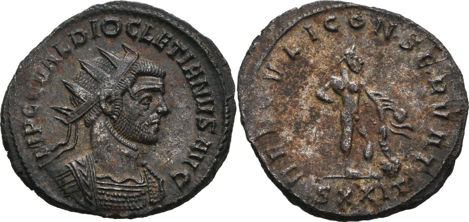 RÖMISCHE KAISERZEIT Antoninian 290-291 n.Chr. Lugdunum