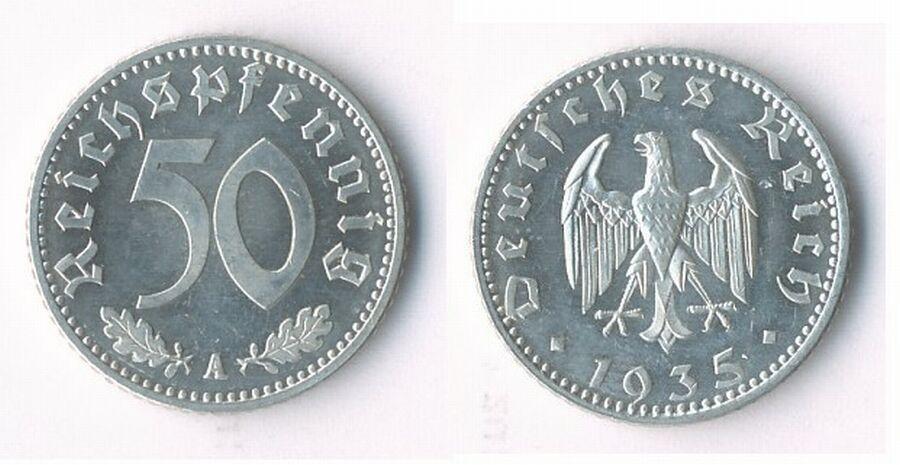 50 пфеннигов 1935 цена монета плата цена