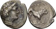 Drachme 220-190 Gallien Massalia  ss
