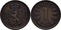 1 Öre 1878 Norwegen Oscar II., 1872-1907 f...