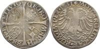 6 Kreuzer 1531 Brandenburg in Franken Schw...