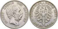 2 Mark 1877 Sachsen Albert, 1873-1902 kl. ...