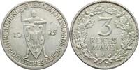 3 Reichsmark 1925 J Deutsches Reich  kl. Randschlag, f.vz  45,00 EUR  +  3,00 EUR shipping