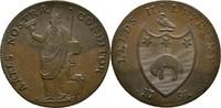 1/2 Penny Token 1791 Grossbritannien Yorkshire Leeds  vz+  107.19 US$ 100,00 EUR  +  4.29 US$ shipping