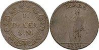 1 Daler 1718 SM Schweden  sehr schön.