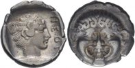 Hemidrachme 424-350 Makedonien Neapolis  vz