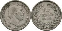 10 Cent 1889 Niederlande Wilhelm III. 1849...