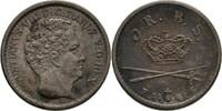 3 Rigsbankskilling 1842 Dänemark Christian...