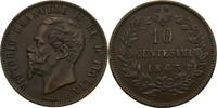 10 Centesimi 1863 Italien Viktor Emanuel I...