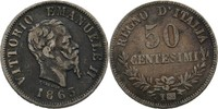 50 Centesimi 1863 T Italien Viktor Emanuel...