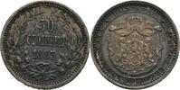 50 Stotinki 1883 Bulgaria Alexander I. dun...