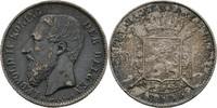 50 Centimes 1886 Belgien Leopold II., 1865...