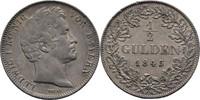 1/2 Gulden 1845 Bayern München Ludwig I., ...