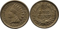 Cent Indianerkopf 1863 USA  vz
