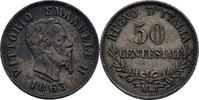 50 Centesimi 1863 Italien Milano Viktor Em...