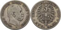 2 Mark 1876 C Preussen Wilhelm I., 1861-18...