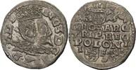 Dreigröscher Trojak 1596 Polen Lublin Sigi...