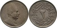 2 Milliemes 1924 H Ägypten Fuad I., 1922-3...