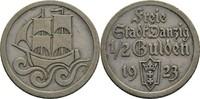 1/2 Gulden 1923 Danzig  ss