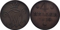4 Heller 1818 Hessen Kassel Wilhelm I., 18...