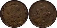 10 Centimes 1898 Frankreich  fast prägefrisch