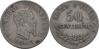 50 Centesimi 1863 NBN Italien Vittorio Ema...