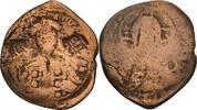 Follis mit Gegenstempel 1096-1140 Islam In...