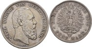 5 Mark 1875 Württemberg Stuttgart Karl, 18...