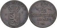 1/2 Kreuzer 1834 Hessen Kassel Wilhelm II....