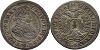 Kreuzer 1698 RDR Schlesien Oppeln Leopold ...