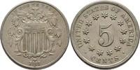 5 Cent 1868 USA  gereinigt, fvz
