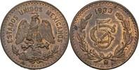 5 Centavos 1933 Mo Mexiko  fast Stempelglanz