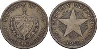 40 Centavos 1915 Kuba Fünfstrahliger Stern ss