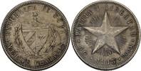 20 Centavos 1915 Kuba Fünfstrahliger Stern vz