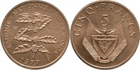 5 Francs 1977 Ruanda Essay - Probe Kaffees...