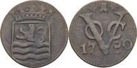 1 Duit 1780 Niederl. Ostindien Zeeland ss