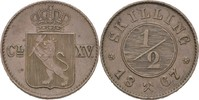 1/2 Skilling 1867 Norwegen Carl XV. Adolf,...