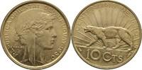 10 Centesimos 1930 Uruguay Puma Bankfrisch