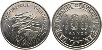 100 Francs 1971 Gabun Essay - Probe Elenan...