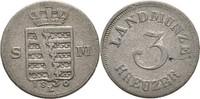 Sachsen Meiningen 3 Kreuzer Bernhard Erich Freund, 1803-1866