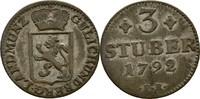 3 Stüber 1792 Jülich Kleve Berg Karl Theodor, 1742-1799 ss  25,00 EUR  +  3,00 EUR shipping