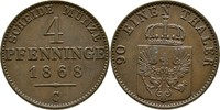 4 Pfennig 1868 Preussen Frankfurt Wilhelm I., 1861-1888 ss  15,00 EUR  +  3,00 EUR shipping
