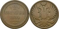 2 Kopeke 1854 Russland Nikolaus I., 1825-1855 ss  75,00 EUR  +  3,00 EUR shipping