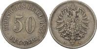 50 Pfennig 1875 D Kaiserreich Wilhelm I., 1861-88 ss  35,00 EUR  +  3,00 EUR shipping