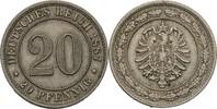 20 Pfennig 1887 F Kaiserreich Wilhelm I., 1861-88 ss  35,00 EUR  +  3,00 EUR shipping