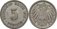 5 Pfennig 1913 D Kaiserreich Wilhelm II., 1888-1918 vz  3,00 EUR  +  3,00 EUR shipping