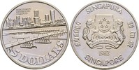 5 Dollars 1982 Singapur Benjamin Sheares Brücke fast Stempelglanz  14,00 EUR  +  3,00 EUR shipping