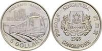 5 Dollars 1989 Singapur Schnellbahnzug fast Stempelglanz  14,00 EUR  +  3,00 EUR shipping